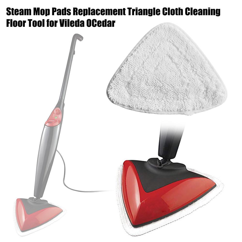 1 stücke Mop Reinigen Für Vileda OCedar Steam Mop Waschbar Reusable Tuch Ersatz Pad Mikrofaser Weiß Ersetzen Mopp Pad Tuch