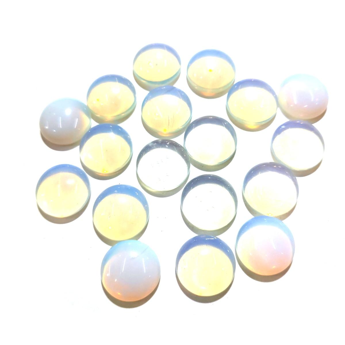 20 piezas piedras naturales ópalo Jade piedra cabujón sin agujero cuentas para hacer joyas DIY anillo accesorios cuentas sueltas