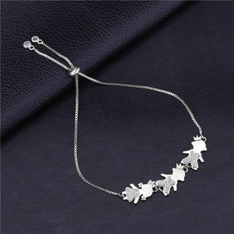 Juya 2020 Ali Moda Handmade Gift Bracelet Supplies Adjustable Slider Chains Boy Girl Mama Bracelets For Women Girl