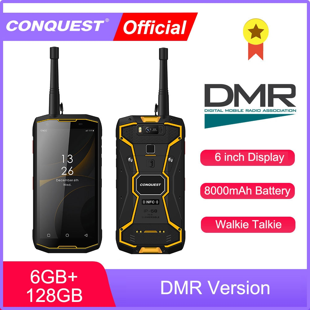 CONQUEST S12 Pro DMR  IP68 Shockproof Waterproof Rugged Smartphone Android NFC Mobile Phones Cell Smart Phone Mobile Phones