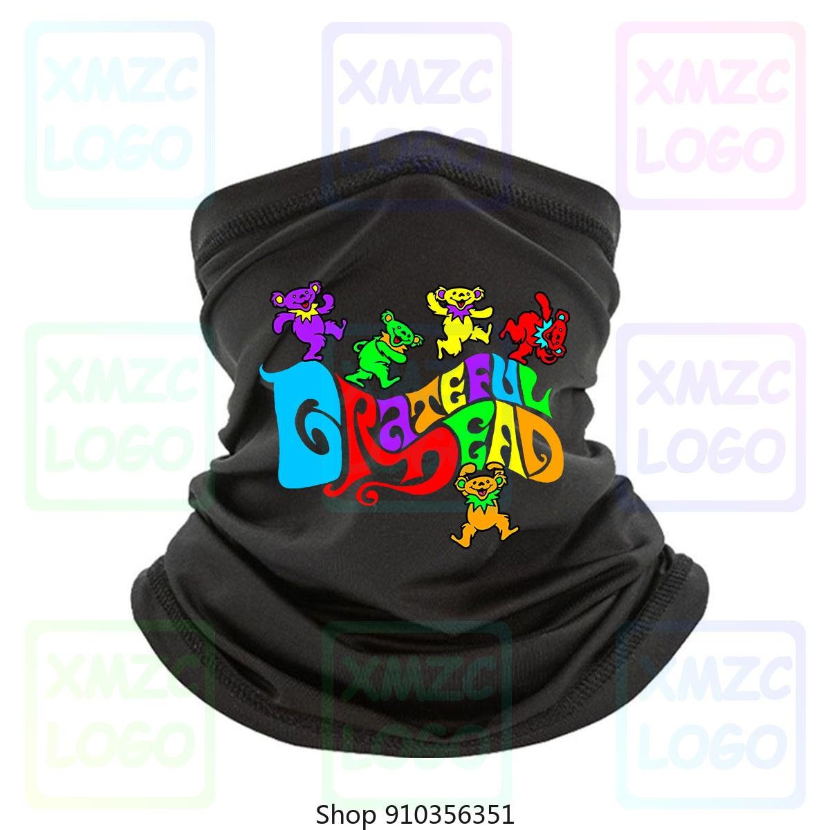 Pañuelo negro Grateful Dead Flipside Bears, Bandana Unisex de todos los tamaños M560, pañuelo, pañuelo, calentador de cuello para mujeres y hombres