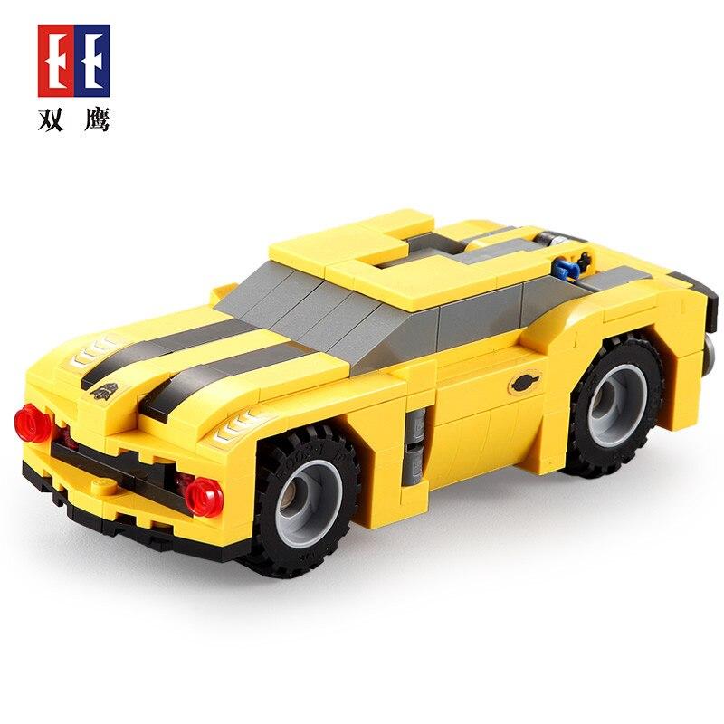 CaDA 267 Uds. Bloques de construcción Cool Robot coche ciudad avispa Robot Hornets carreras 2 en 1 vehículo de deformación ladrillos juguetes para chico