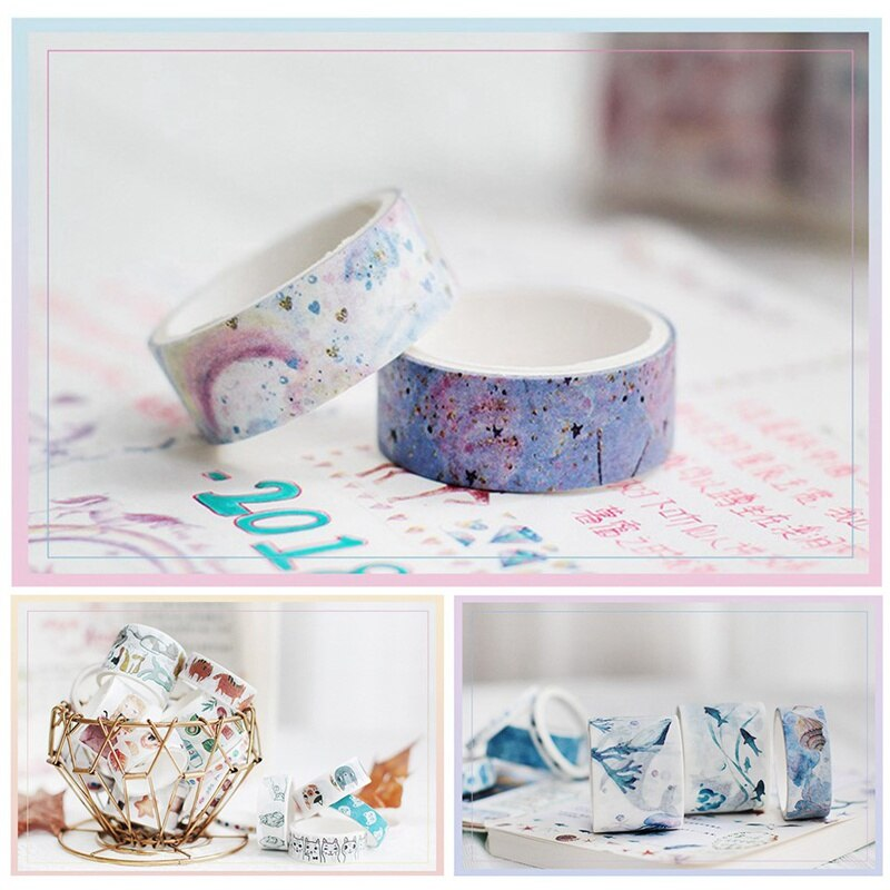 10Rolls/Set Washi Tape Washitape Starry Sky Masking Tape Kawaii Material