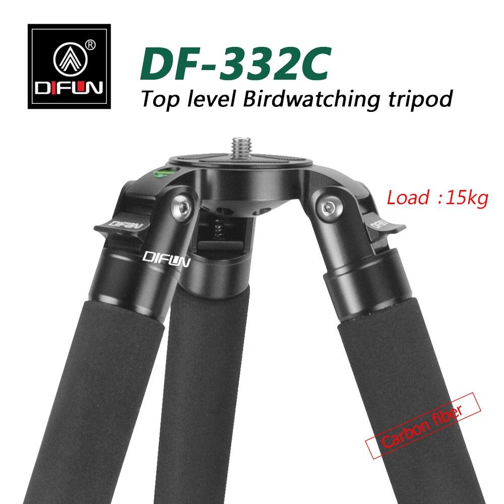 Soporte para fotografía Treppiedi Profesional de DF-332C, soporte DSLR de carbono con base para cuenco