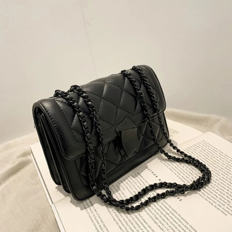 2021 New Vintage Fashion Designer Diamond Lock Bag Chain Women  Shoulder Crossbody Bags Women's Handbags Purses free shipping