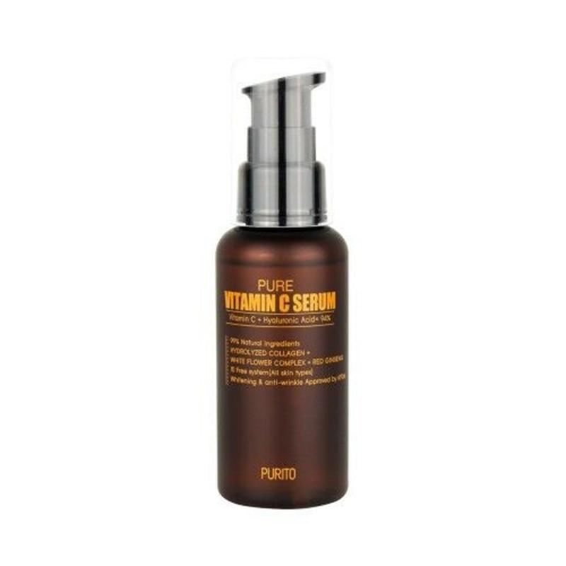 Beste Korea Kosmetik PURITO Reines Vitamin C Serum 60ml Gesicht Creme Anti-falten Serum Akne Pickel Behandlung Schwarz kopf Entferner
