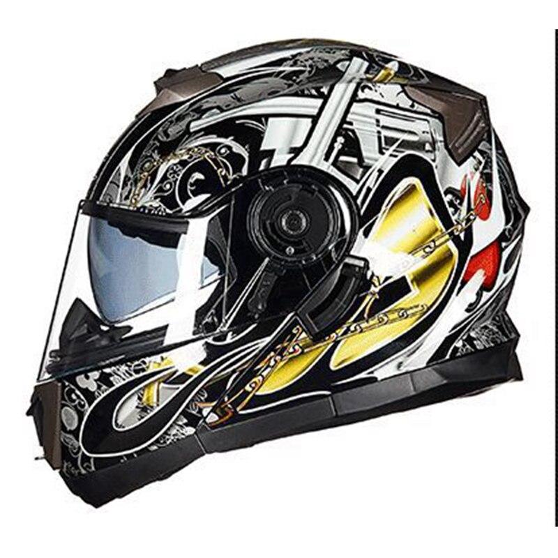 Dot aprovado segurança nova gxt flip up capacete da motocicleta dupla lente rosto cheio capacete de corrida casco