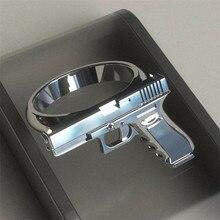 FFLACELL moda nuevo tamaño 6-10 Retro Color plata pulido motocicleta Cowboy Retro Rifle anillo para hombres
