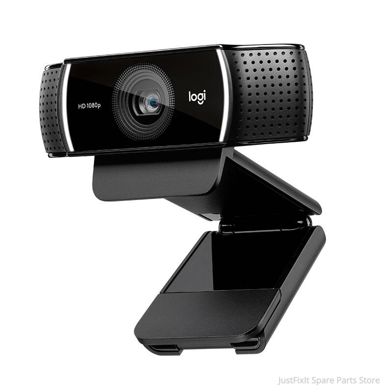 لوجيتك-كاميرا ويب C922 HD Pro مع ميكروفون ، كاميرا ويب مع تركيز تلقائي للفيديو عالي الدقة 1080 بكسل ، جديد