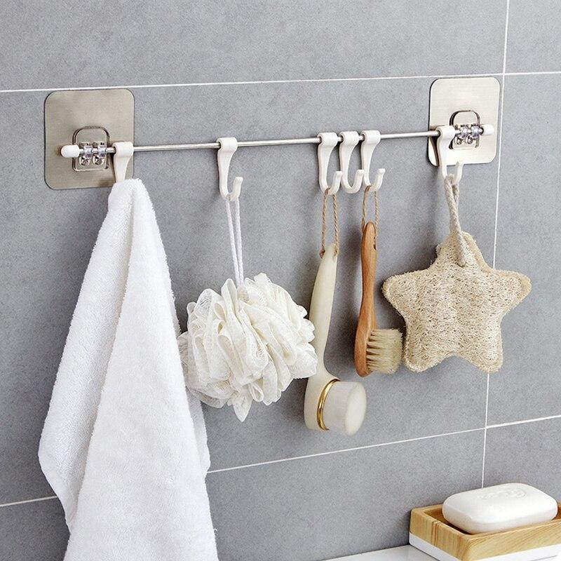 Porte-serviettes mural   Crochet de porte-serviettes mural, porte-serviettes, organisateur de salle de bain, garde-robe porte-serviettes, étagère de rangement pour serviettes