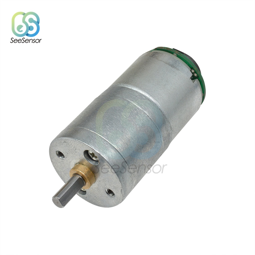 25GA-310 DC 12V 30 60 100 RPM Motor de engranaje de alto par DC Motor de engranaje eléctrico con codificador