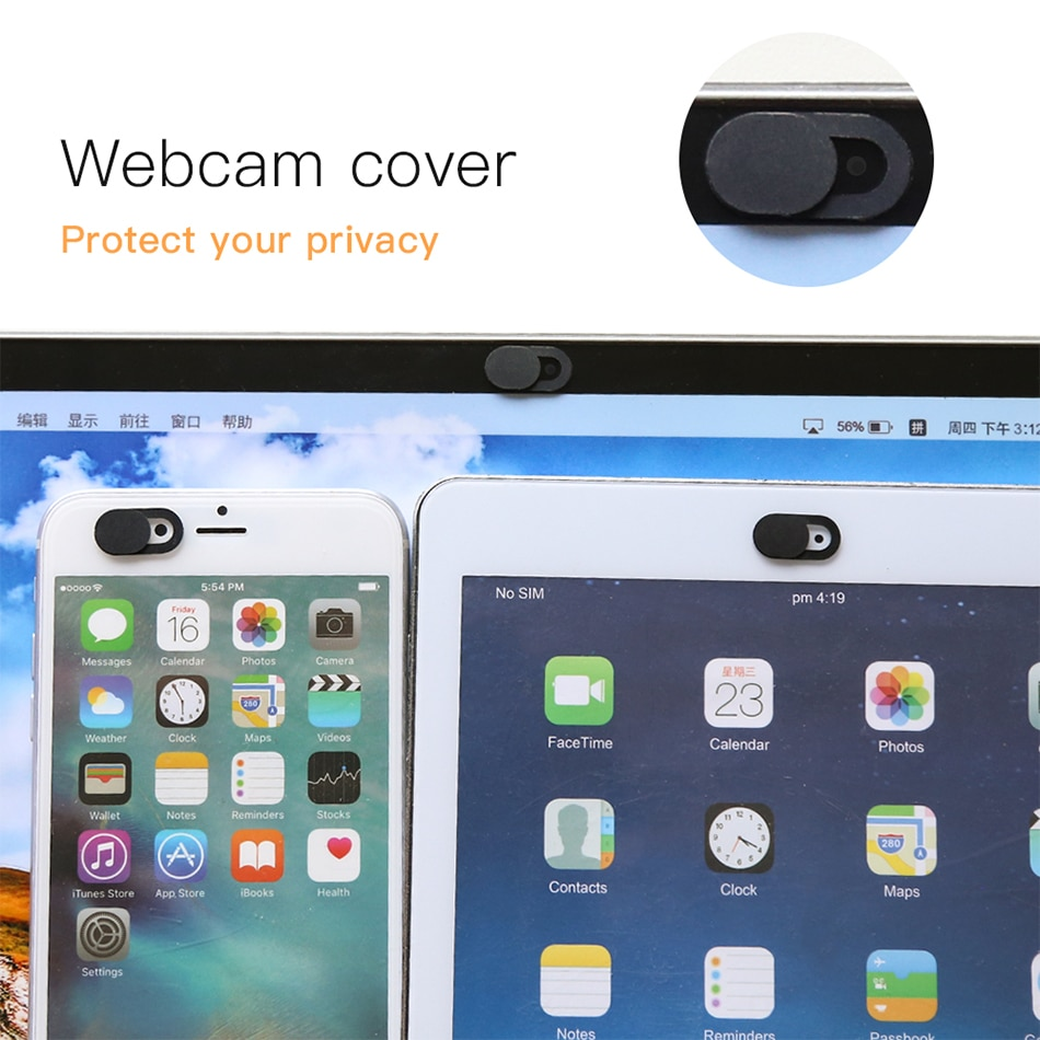 Webcam Cover Shutter Magnet Slider Plastic for Iphone Web Laptop PC for Ipad Tablet Camera Mobile Ph
