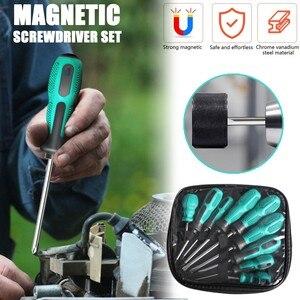 Magnetic Screwdriver Set 9 Pcs Professional Handle Grip Magnetic Screwdriver Hand Tools Set Набор Отверток Tool Kit
