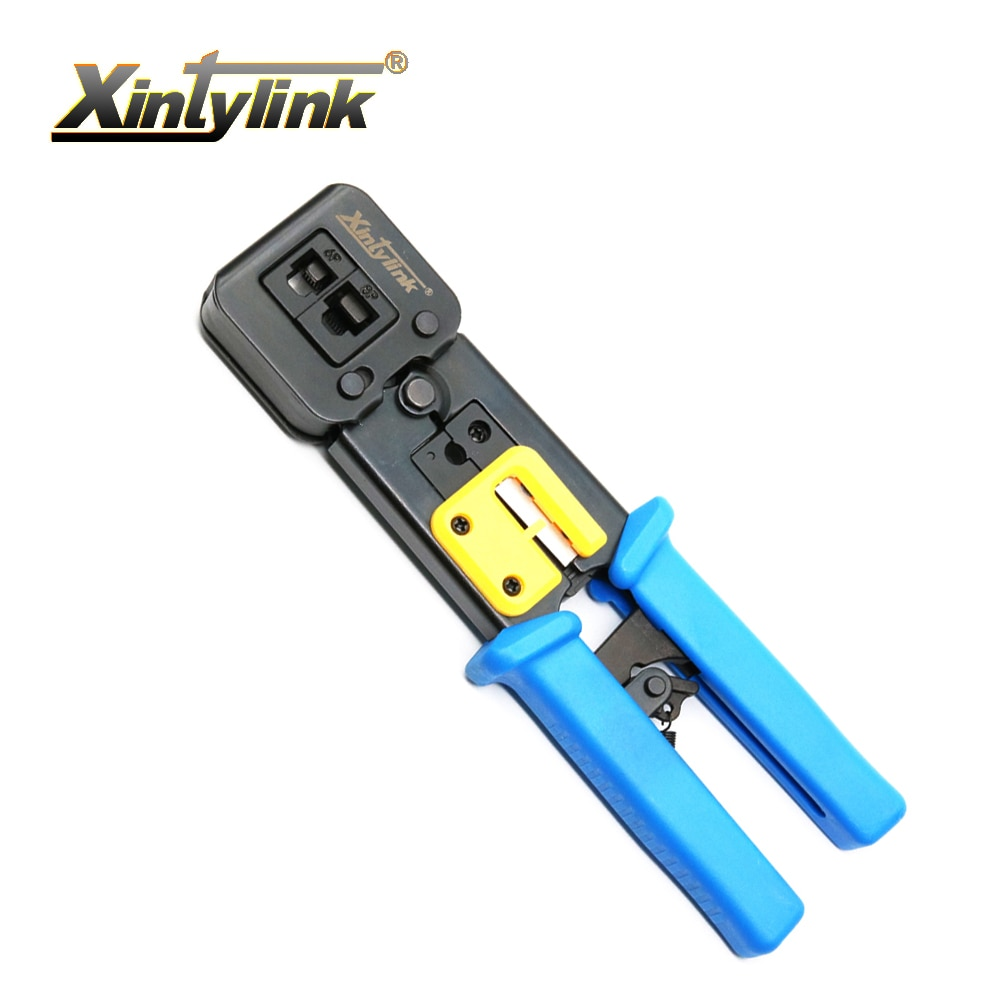 xintylink rj45 cable tools crimper rg45 rj 8p8c ethernet internet network clamping pliers rj12 cat5 cat6 lan Stripper clamp clip