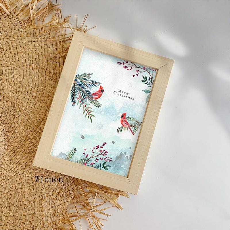 Christmas Decor Poster Snow Landscape Animal Elk Bird Fox and Flower Canvas Painting Wall Pictures New Year Home Decoration  - buy with discount