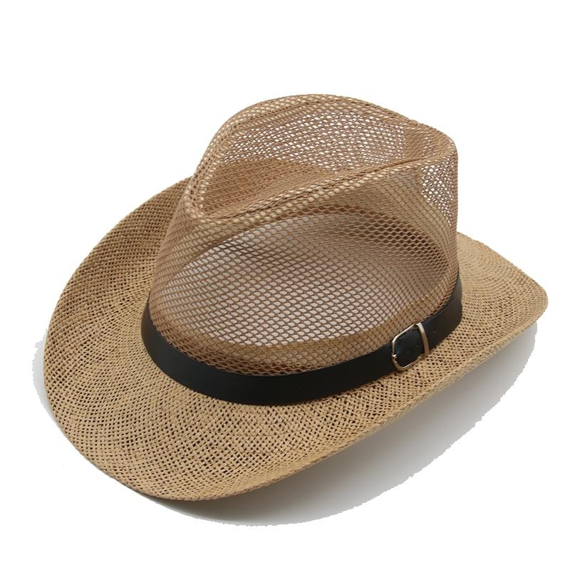 Cowboy Hoed Zomer Mode Ademend Dallas Cowboys Stro Hoeden Westerse Top Hoed Zonnebrandcrème Cowgirl Hoed Sombrero Hombre Mannen Hoeden