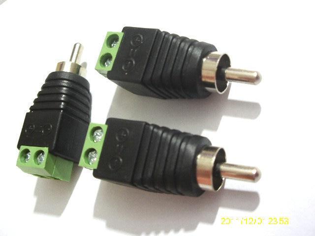 1000 قطعة محول RCA ذكر التوصيل إلى AV موصل محطة فيديو Balun محول موصل جديد