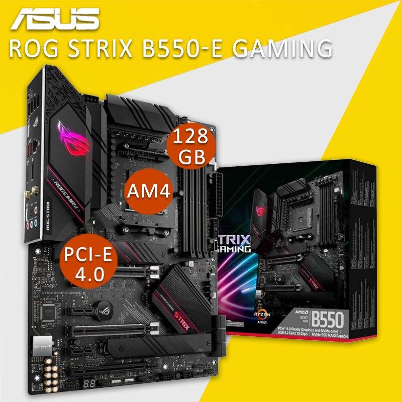 مقبس AM4 Asus ROG STRIX B550-E الألعاب اللوحة الأم دعم AMD Ryzen 3500X 3600 PCI-E 4.0 عرض ميناء AMD B550 بلاسا-mv1 e AM4