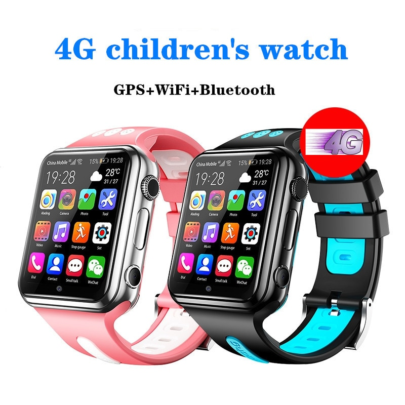 W5 4g Children's Smart Watch Gps Positioning Mobile Phone Android 9.0 Wifi Internet App Application Download Student Video Call gocomma w5 h1 c aladeng 4g gps wifi location smart watch phone android system clock app install bluetooth smartwatch 4g sim card