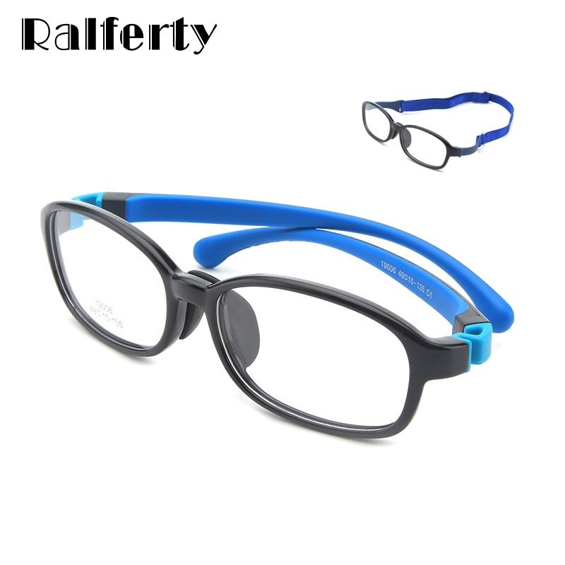Gafas Ralferty de silicona seguras para niños, gafas deportivas de moda para niños y niñas para miopía, gafas graduadas sin dioptrías K19006
