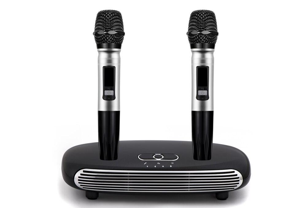 K8 البصرية سماعة لاسلكية تعمل بالبلوتوث V5.0 ميكروفون HDMI قوس الأسرة المنزل نظام صدى الغناء آلة كاريوكي صندوق مشغل كاريوكي