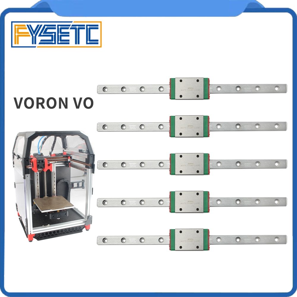FYSETC أداة توجيه طولية من هايون السكك الحديدية 5 قطعة 150 مللي متر MGNH7 أداة توجيه طولية من هايون السكك الحديدية مع المنزلق ل Voron V0 3D طابعة