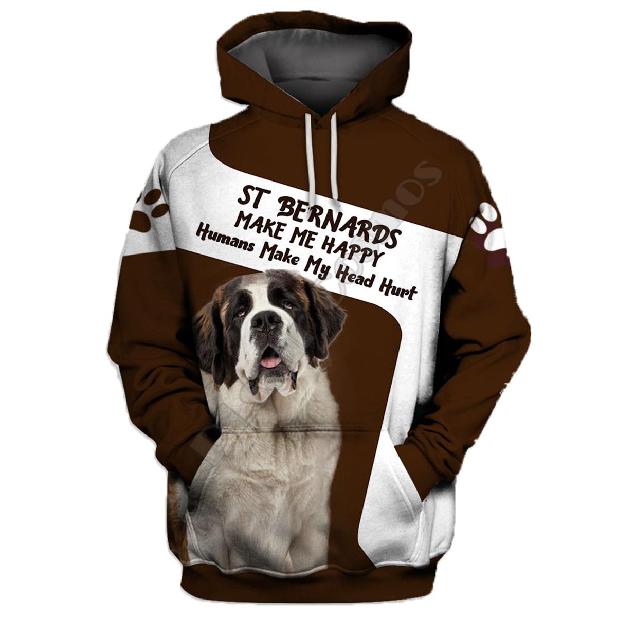 St Bernards 3D Hoodies Printed Pullover Men For Women Funny Sweatshirts Sweater Animal Hoodies Drop Shipping 22