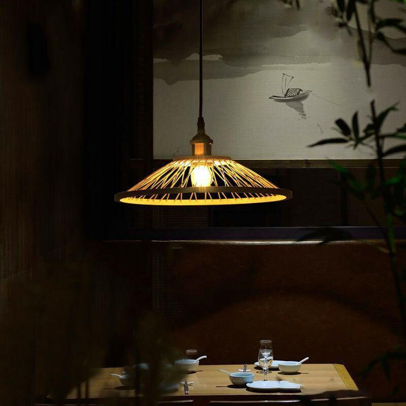 New Chinese Bamboo Restaurant Chandelier Living Room Bedroom Tea Room Bar Hanging Lamp Creative Southeast Asia Zen Led Lamps enlarge