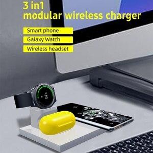 3 в 1, держатель для беспроводного зарядного устройства для Samsung Galaxy Watch/Buds мобильный телефон