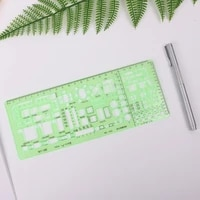 c5ab plastic geometric template ruler drawing tools for student school stationery pro