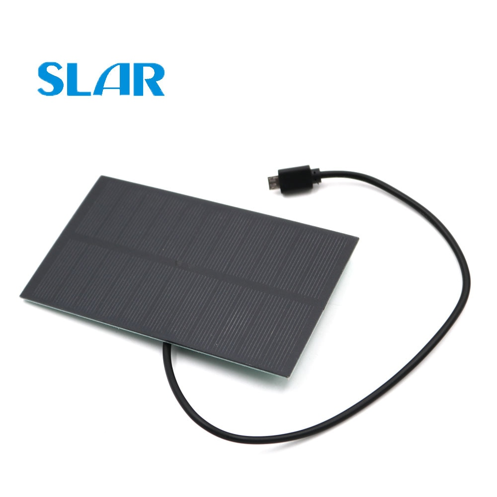 1.65W 5.5V Solar Painel Solar Carregador de Bateria de Saída USB Micro Android Micro USB port 5V 300mA Carga reguladores
