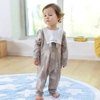 babys one piece suit newborns clothes babys clothes two piece suit detachable bib babys one piece suit