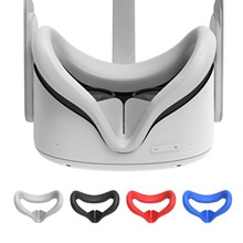 Oculus Quest 2 VR 안경 용 아이 마스크 커버 실리콘 땀 방지 누설 방지 블로킹 아이 커버 Oculus Quest 2 액세서리
