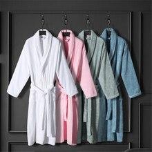 Absorbant matin robe coton couple peignoirs automne hiver hôtel robe serviette matériel vêtements de nuit dames pyjamas bain spa robe