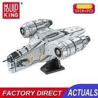 mould king razor spaceship model kit star plan blocks starship moc diy assembly brick toys educational toys gifts for children