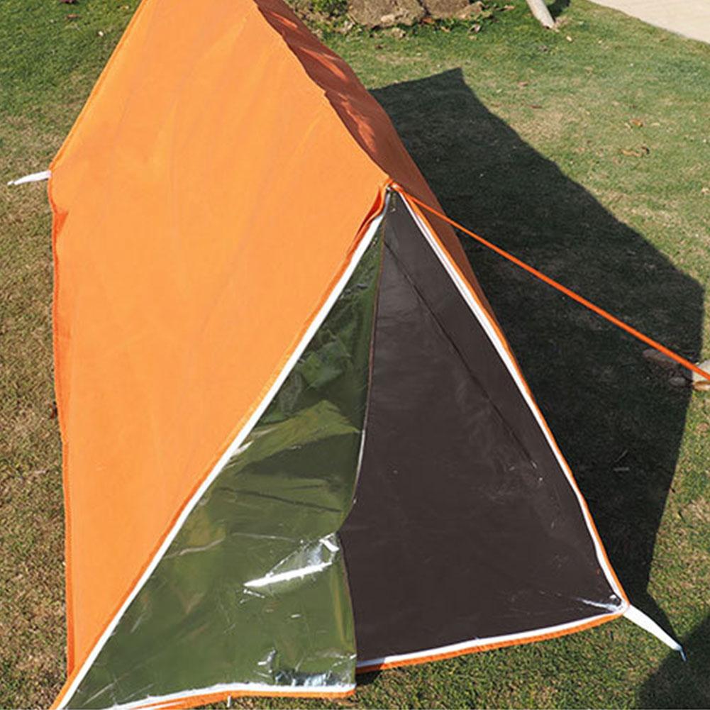 À prova dwaterproof água nonwovens proteção de emergência quente sobrevivência aventura portátil prático ao ar livre abrigo dobrável tubo tenda caminhadas