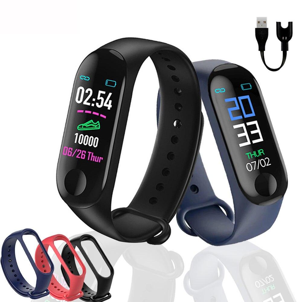 Reloj deportivo, Monitor de pulso y presión arterial, recordatorio de mensajes Bluetooth, pulsera impermeable para hombres y mujeres, pulsera para niños