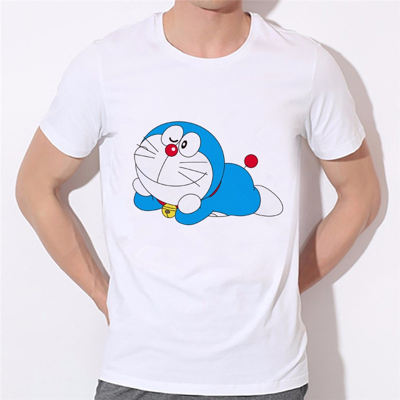 Men Japan Anime Men T-shirt 2020 New Doraemon T Shirt Summer Short Sleeve Doraemon boy T Shirts Tops Men Tee