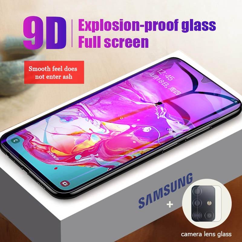 9D de vidrio templado para Samsung M10 M20 M30 M40 trasera lente de la cámara de película para Samsung Galaxy A10e A20e A10S A20S A30S A40S A50S 2 en 1