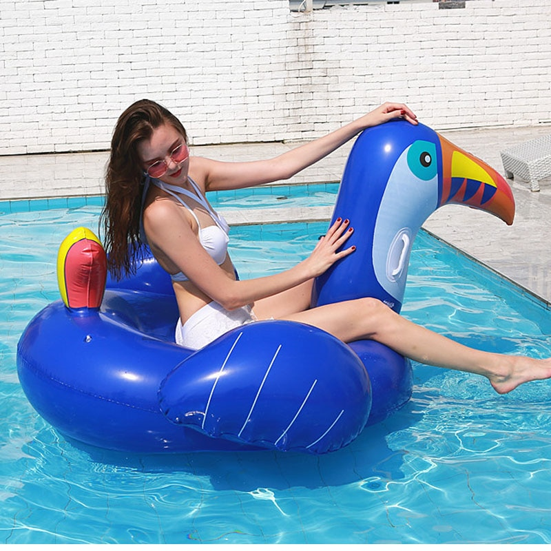 Giant Inflatable toucan Ride-on adults Pool Float  Inflatable big bird island for Swimming Pool Mattress Toucan Bird Water Toys