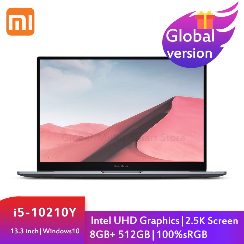 Review Xiaomi Mi RedmiBook Air 13.3 Inch Notebook Laptop Intel Core i5-10210Y 8GB LPDDR3 512GB SSD 2.5K Notebook Windows 10 Computer