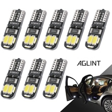 AGLINT 8PCS Super White T10 W5W 194 168 LED CANBUS No Error Bulb For Ford Focus 2 Car Interior Lighting Dome Room Light LED 12V