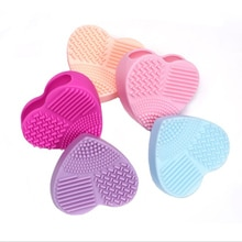 The Brush Silicone Heart Shape Makeup Brush Cleaner Cosmetic Cleaning Tool Washing Brush Cleaning Br