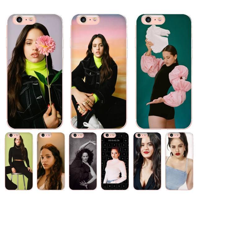 Bonita funda negra de silicona para iPhone X XS MAX 11 pro max 6 6s 7 7plus 8 8Plus 5 5S XR SE 2020 de Yinuoda, Rosalia