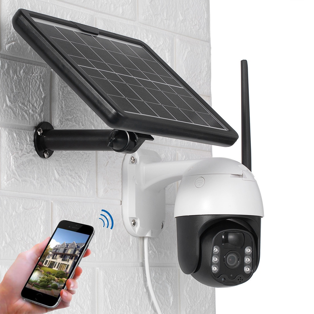Solar Power 4G 3G LTE WiFi PTZ 1080P IP Camera 4X Zoom Cloud Wirefree Battery Powered PIR Motion Detection Colorful Night Vision