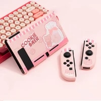 pink protective case cover for nintend switch shell cute cartoon fairy league tpu soft cover back grip shell for nintendo switch