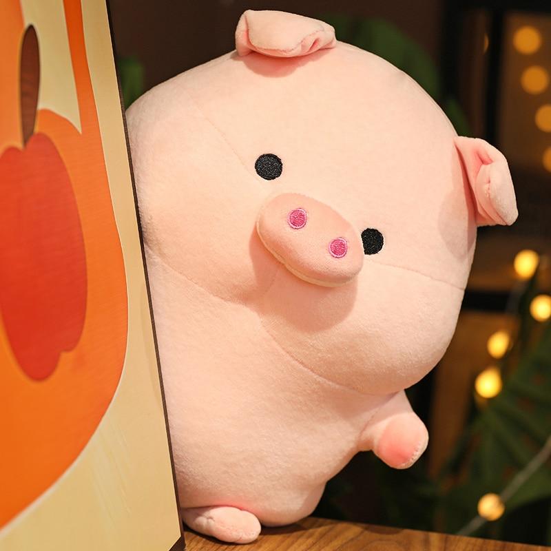 Pig Plush Toys Pink Cute Soft Pillow Kawaii Stuffed Animals Big Plushie Doll House Decorative Pillow