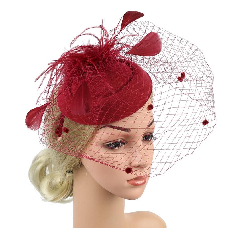 Women Feather Floral Hair Fascinator Hat Headband Cocktail Party Wedding Church Kentucky Derby Dress Accessories