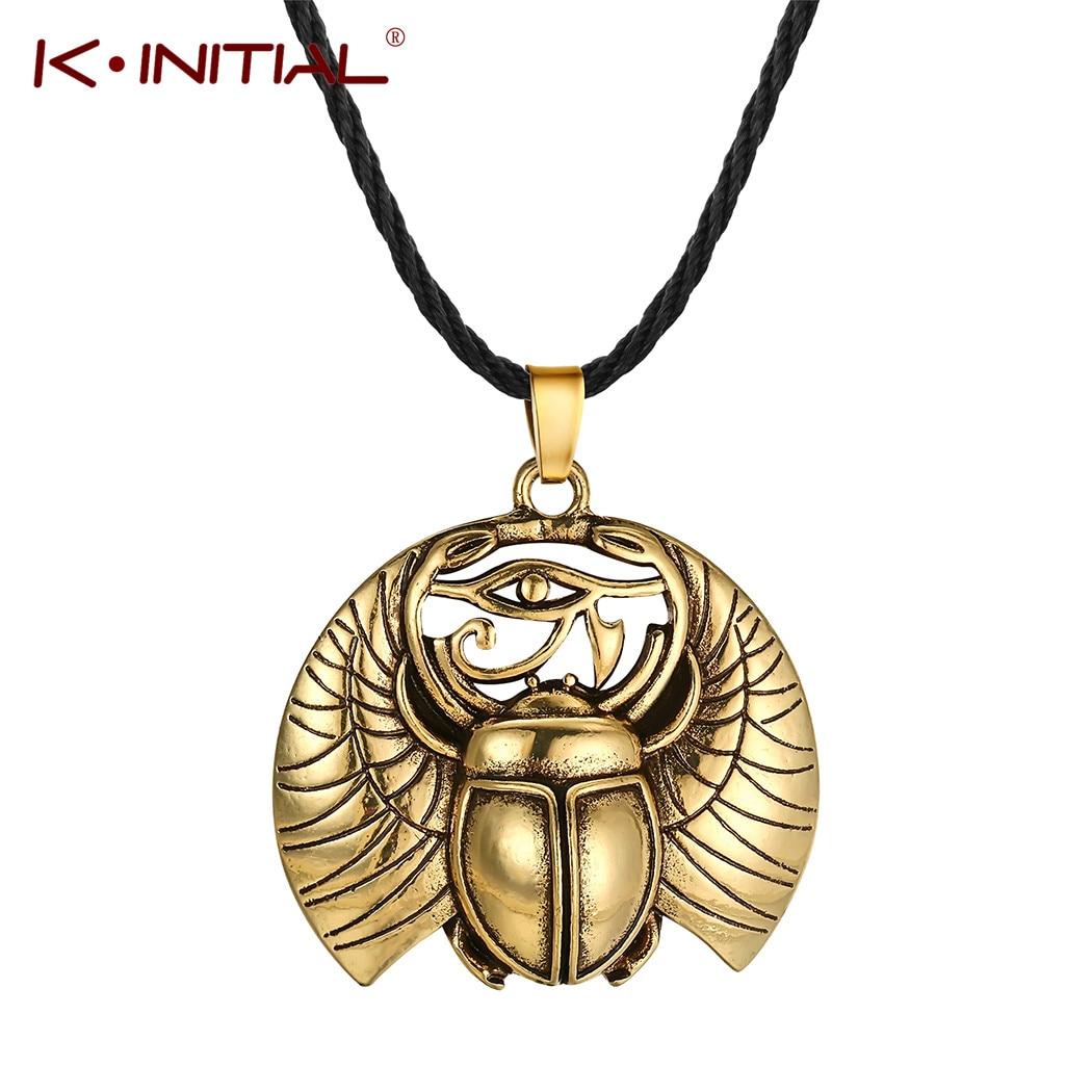 Kinitial Vintage Ojo de Horus Egipto protección colgante de concha de abulón...