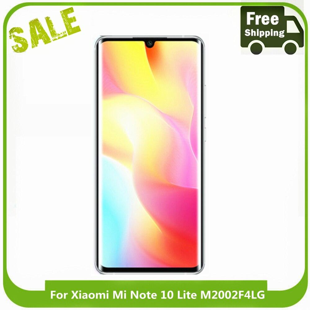 AMOLED شاشة LCD ل شاومي Mi نوت 10 لايت LCD عرض تعمل باللمس محول الأرقام الجمعية ل شاومي Mi نوت 10 لايت M2002F4LG